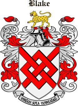 BLAKE family crest