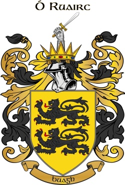 O'ROURKE family crest